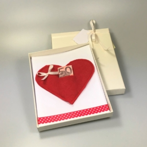 Geldgeschenkverpackung Motiv Herz