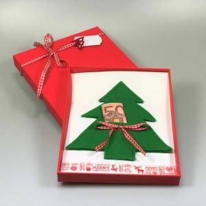 Geldgeschenk Weihnachtsbaum Hell